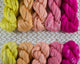 Cotton Spinning Fiber - pink to yellow gradient