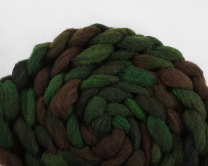 CVM Cormo Roving- greens and brown