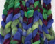 Rambouillet Roving - purple and green