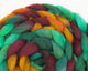 Rambouillet Roving - teal, purple, and orange