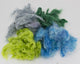 Hand-dyed Milkweed: lime, blue, grey, green