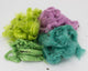Hand-dyed Milkweed: green, lime, purple, and teal