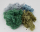 Hand-dyed Milkweed: dark green, grey, blue, and moss