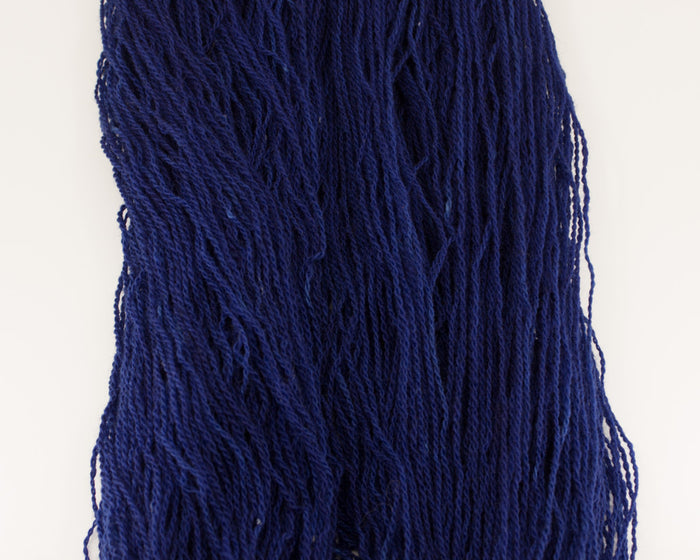 Fingering Wool Yarn - midnight blue