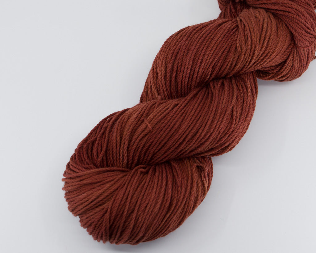 Hand-dyed cotton yarn - deep red