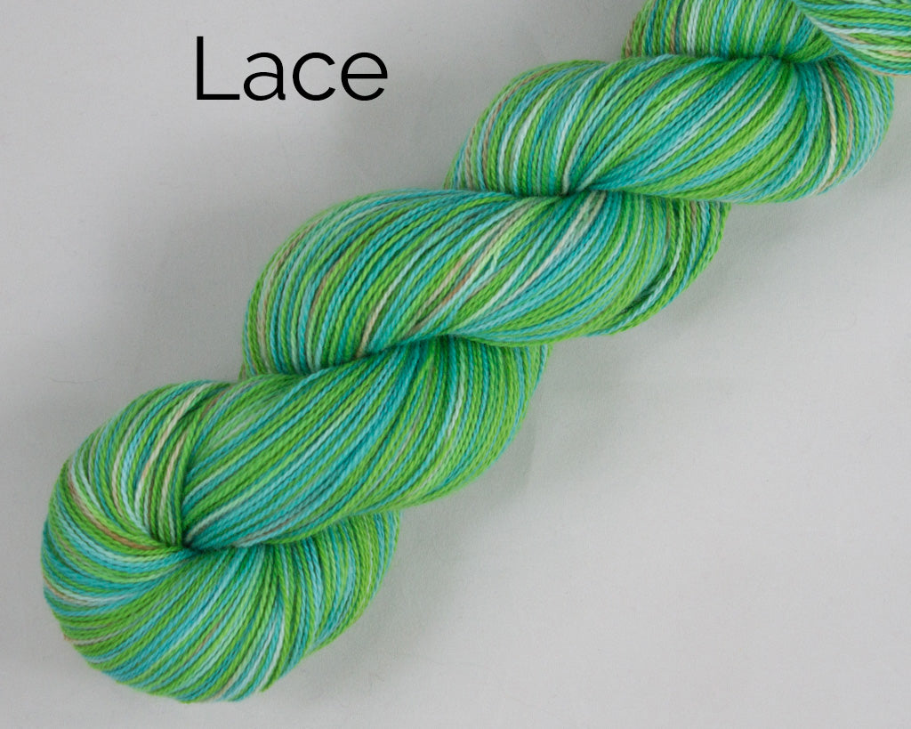 Lac Weight Organic & Fair Trade Cotton Yarn-Green, Teal, and Brown