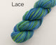 Organic & Fair Trade Cotton Yarn- blues, dark green, and yellow