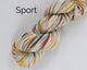 Organic & Fair Trade Cotton Yarn- yellow, red, black, and white