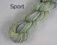 Sport Weight Organic & Fair Trade Cotton Yarn-Green, Purple, and White