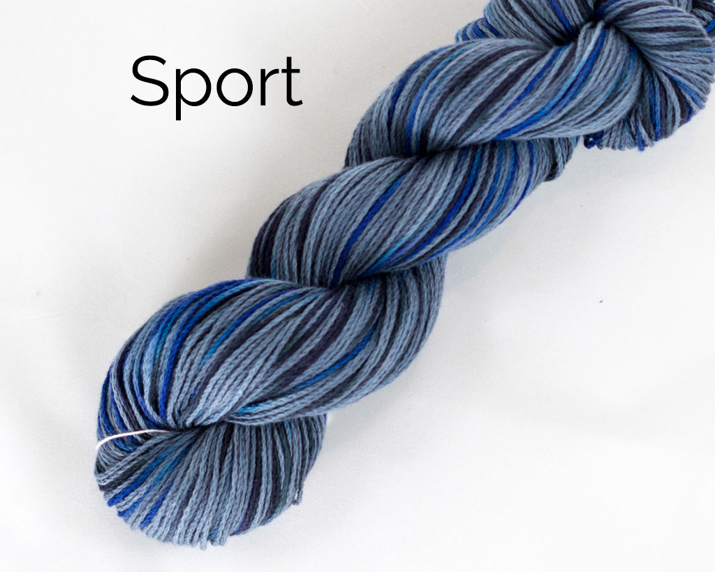 Organic & Fair Trade Cotton Yarn- Blue and grey