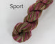 Organic & Fair Trade Cotton Yarn- maroon, green, and brown