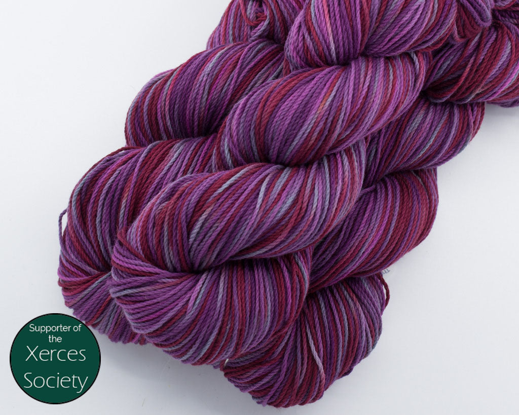 Organic & Fair Trade Cotton Yarn- red, purples, and grey