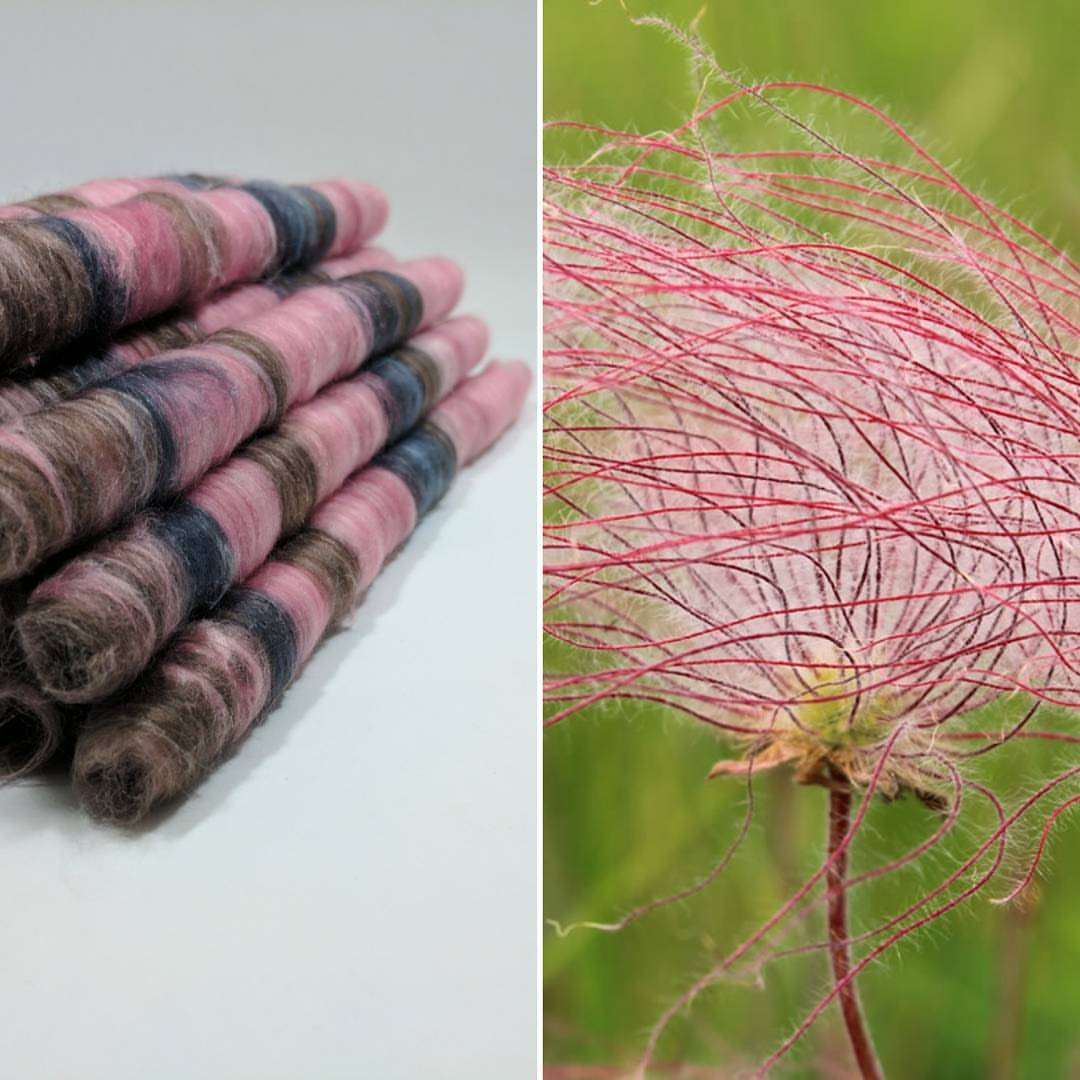 Cotton Milkweed Punis, Prairie Smoke - Buchanan Fiber Co.