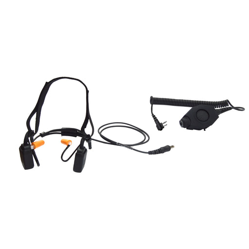 Tactical Bone Conduction Headset with Military PTT for Motorola MOTOTRBO XPR-6550 XPR-7350 XPR-7550 APX 6000 APX 7000