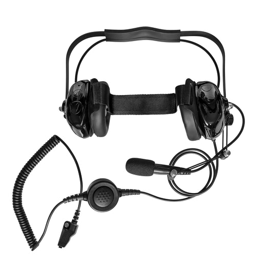 Maxtop AHDH0032-BK-K3 Two Way Radio Noise Cancelling Headset for Kenwood TK-5220 TK-5320 NEXEDGE NX-230EX NX-330EX