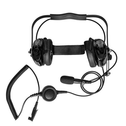 Maxtop AHDH0032-BK-R3 Two Way Radio Noise Cancelling Headset for Relm RPV3000 RPV3600 RPU3000 RPU3600