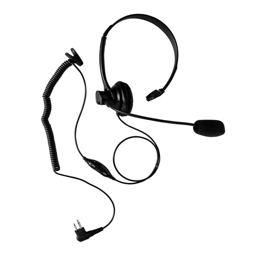 Maxtop AHDH1000-M1 Two Way Radio Over Head Headset Boom Mic for Motorola CP200 CP200D BPR40 EP450 BearCom BC130