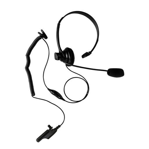 Maxtop AHDH1000-M7 Two Way Radio Over Head Headset Boom Mic for Motorola MTS2000 XTS2500 XTS3000 XTS3500 XTS5000 HT-100