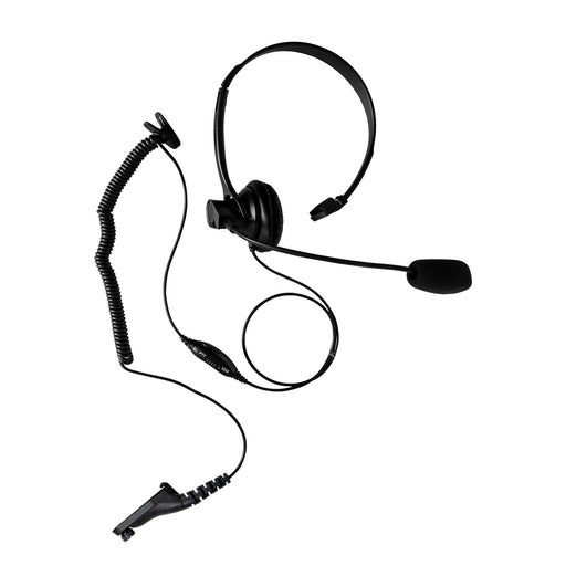 Maxtop AHDH1000-M9 Two Way Radio Over Head Headset Boom Mic for Motorola APX-6000 APX-6000 APX-7000 MOTOTRBO XPR-7350