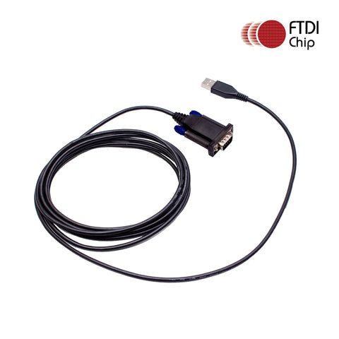 Maxtop APCUSB-RS232-6 FTDI USB to RS232 Serial DB9 Male Cable Adapter 6 Feet for Two Way Radio Programming