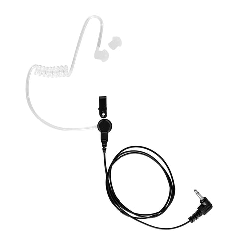 Maxtop ARP25-35L Clear Coil Acoustic Ear Tube Receiving Only Earphone with 3.5mm Plug for Speaker Microphone