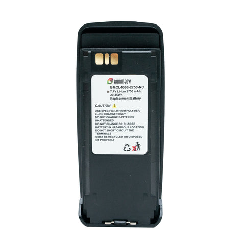 BOMMEOW BMCL4066-2750-D 7.4V 2750 mAh Li-Ion Radio Battery for Motorola
