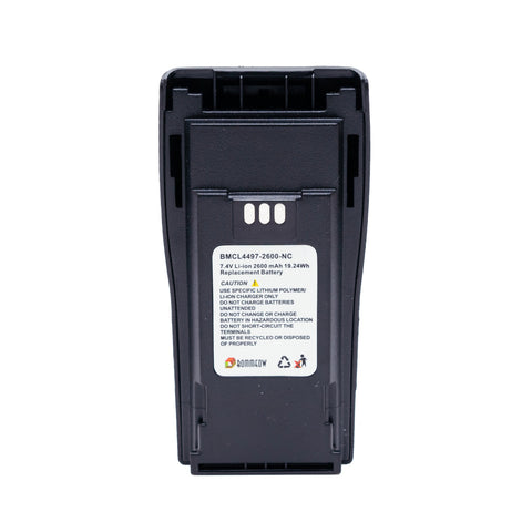 BOMMEOW BMCL4497-2600-D 7.4V 2600 mAh Li-Ion Radio Battery for Motorola