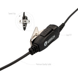 BOMMEOW PARENT-BSE12-K2C C-Shape Swivel Style Earpiece Headset for Two Way Radio