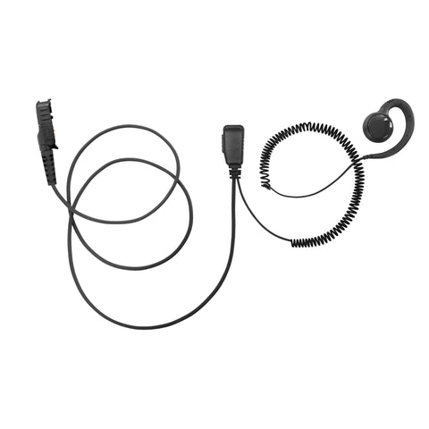 BOMMEOW PARENT-BSE15-AX C Shape Earpiece Swivel Style Earhanger for Motorola Mototrbo DEP550 DEP570 XPR3500