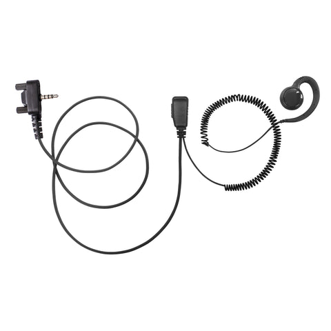 BOMMEOW PARENT-BSE15-Y3 C Shape Earpiece Swivel Style Earhanger for Vertex Yaesu EVX-261 EVX-531 VX-520UD VX-417