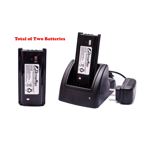 Maxtop C2B1C0016 Battery Charger Bundle Package with 2 PCS KNB-45 1700 mAH Battery for Kenwood TK-22