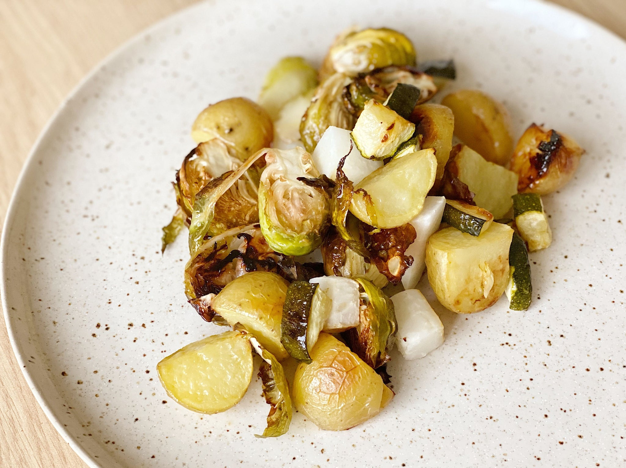 Summer Balsamic Roasted Root Vegetables