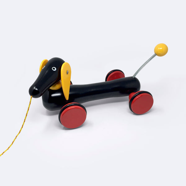 Classic Wooden Dachshund Pull-Along Toy – Large - Wooden Toy - BRIO | ModernMinor