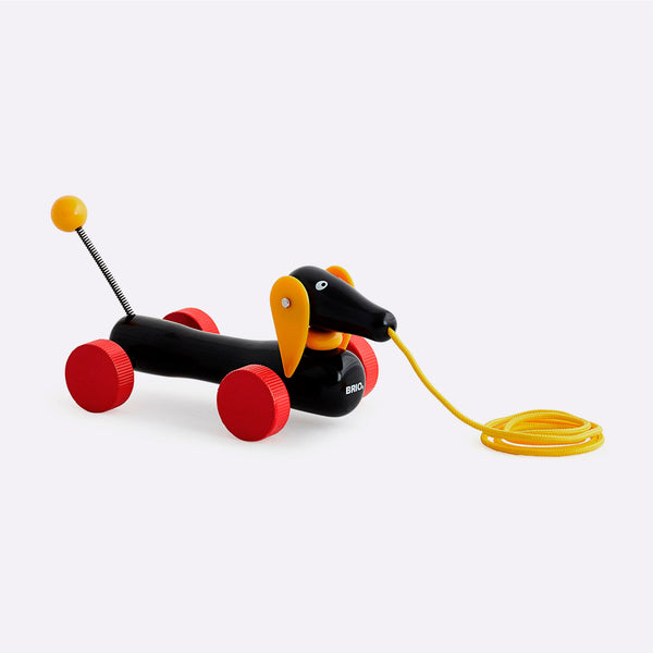 Wooden Dachshund Pull-Along Toy – Small - Wooden Toy - BRIO | ModernMinor