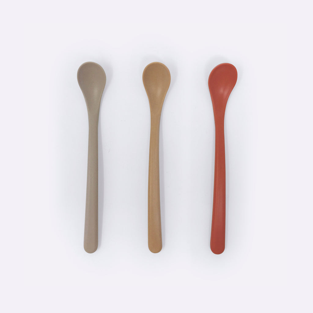 Bamboo Spoons 3-pack – Fog / Rye / Brick - tableware - cink | ModernMinor