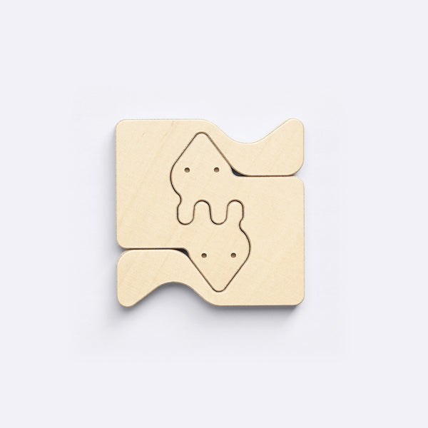Two-piece Puzzle – Fox - Wooden Toy - Medio Design | ModernMinor