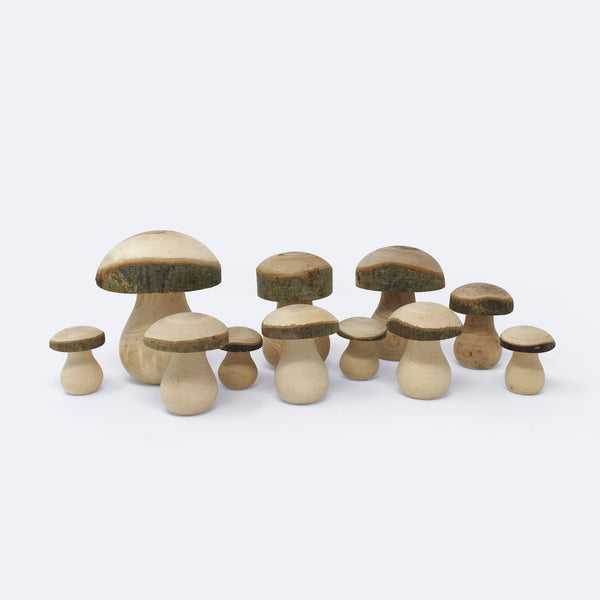 Wooden Toadstools - Wooden Toy - Mercurius | ModernMinor
