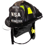Fire Force - Cairns N5A New Yorker - Deluxe Leather Fire Helmet With Bourke and Black nomex earflap