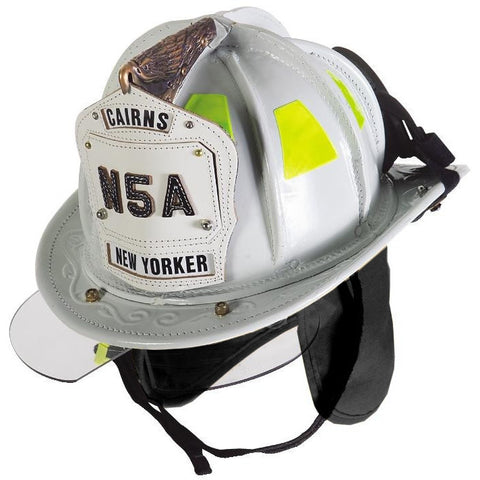 Cairns N5a New Yorker Deluxe Leather Fire Helmet With Bourke And