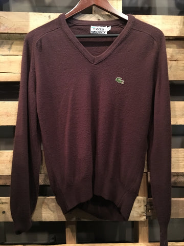Vintage Brown Lacoste Pull Over Sweater
