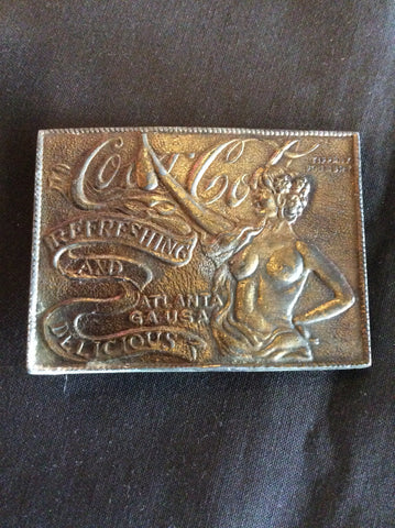 Vintage Coca-Cola Brass Belt Buckle