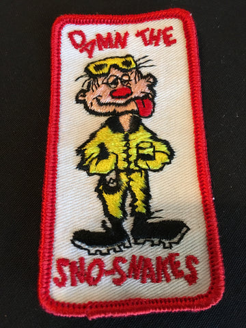 Damn The Sno-Snakes Sew on Patch