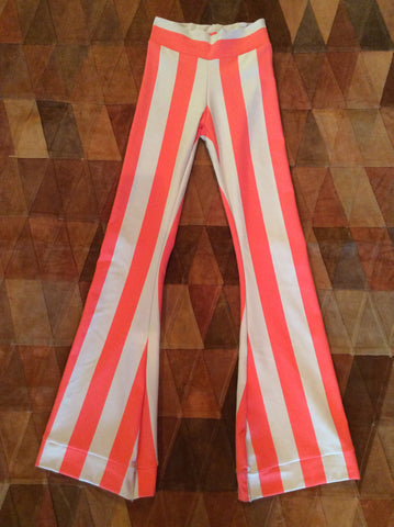 Filthymouth Clothing Exclusive EXILE Bell Bottoms in lycra blendIn Orange and Cream