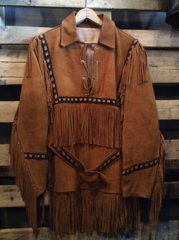 Vintage 70's Fringe Leather Tunic