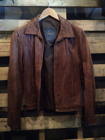 Vintage Brown Star II Leather Jacket