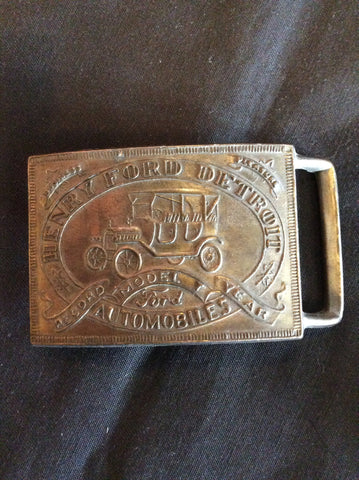 Brass Henry Ford Belt Buckle
