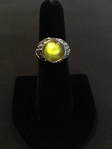 Vintage Yellow Costume Ring