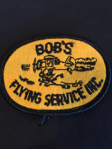Bob's Flying Service Inc. Funny Sew on Patch