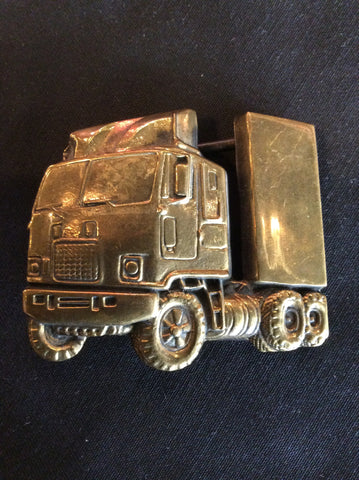 Vintage 1978 Trucker Baron Brass Belt Buckle
