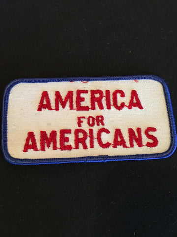 America For Americans Sew on Patch